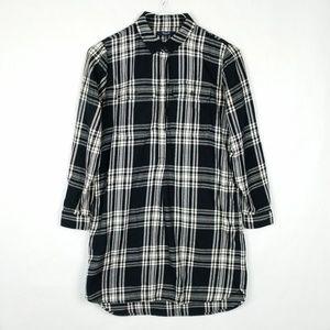 Madewell Plaid Flannel Daywalk Shirt Dress